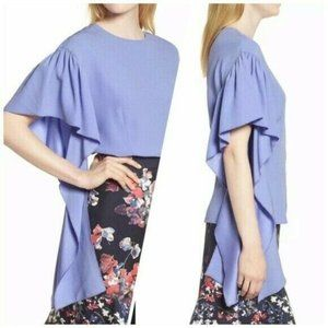 NEW Lewit Flutter Sleeve Blouse Small